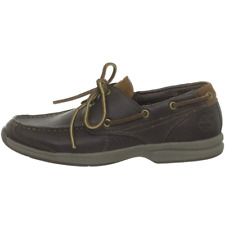 Timberland Earthkeeper Hulls Cove Men Leather Sneaker Boatshoe Shoes brown 5744R