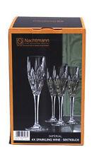 Nachtmann 4x Sektkelch Schilfdekoration Kristallglas 140ml Imperial Sektglas