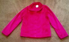GIRLS FURRY PLACE JACKET SIZE 10 / 12 GORGEOUS PINK ZIP FRONT POCKETS SPRING EXC