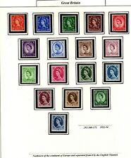 New listing Stamps - Great Britain Elizabeth Ii - Scott 292-340 (1952-8)