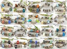 * 10 Armbänder mit 13 Beads aus Glas +  METALL  SET PERLE MODUL BEAD TOP ANGEBOT