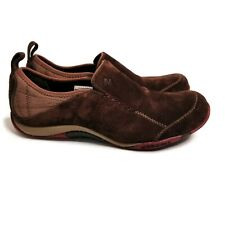 Merrell 7 Seven Brown Jungle Moc Kamari Suede Slip On Shoes Sneakers Womens