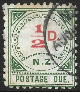 NEW ZEALAND 1899 1/2d '17 dots' Postage Due, used. SG D1. Cat.£45.