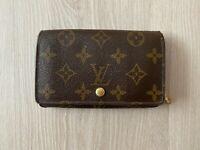 Louis Vuitton Monogram Vintage Brown Leather Short Flap Zip Around Wallet
