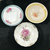 Lot of 3 Vintage Floral Pattern Bowls