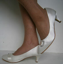 Mid Heel (1.5-3 in.) Satin Bridal or Wedding Shoes for Women