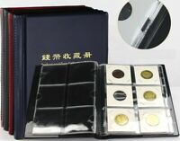 10 Pages Coin Stock Book 60 Pocket Album for 2x2 Paper Flip Holders Storage