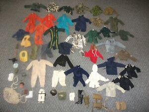 "1960s-70s 12"" vintage Gi Joe / Action man Uniforms clothing accessories LOT #486"