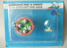 Schtroumpfs dans la Marmite  N°9  Neuf figurine schtroumpf collection