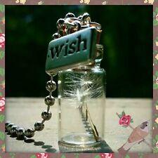 Dandelion wishing charm seed glass bottle pendant necklace  2ml Bottle