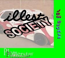 Illest Society JDM Sticker Adesivo OEM Power Fun like Shocker Hater