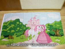 Fahnen Flagge Prinzessin Pferd Märchenschloss - 90 x 150 cm