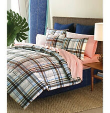 MODESTO NEW TOMMY HILFIGER TWIN COMFORTER STANDARD PILLOW SHAM 2 PIECE SET PLAID