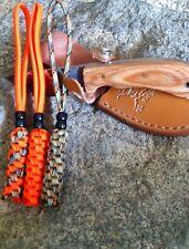 (3) Knife Lanyards -Fits- Hunting, Fishing, Camping,Knives - ORANGE/TREESTAND