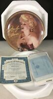 """MARILYN MONROE BRADFORD EXCHANGE """"BLONDE PASSION"""" 1st Issue Collectors Plate"""