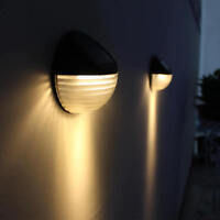 6 LED Solar Powered Home Door Fence Wall Light Lamp Outdoor Garden Shed Lighting
