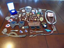 U.S. MILITARY JUNK DRAWER LOT- MILITARIA & RELATED- PINS, RIBBONS, MEDALS ++MORE