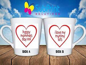 I Love my mummy lots mothers day gift mug - Std Mug or 12oz Latte coffee cup