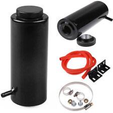 BLACK Universal Radiator Coolant Aluminum Catch Tank Overflow Reservoir 800ml