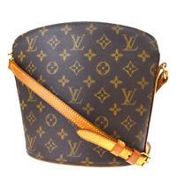 Auth Louis Vuitton Drouot Shoulder Bag Monogram Leather Brown M51290 84MF047