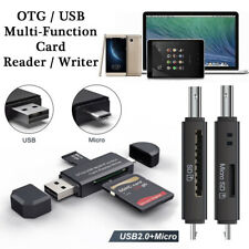 MICRO USB OTG - USB 2.0 Adapter SD/Micro SD Card Reader For PC/Laptop/Smartphone