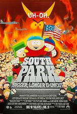 SOUTH PARK: BIGGER, LONGER & UNCUT (1999) ORIGINAL MOVIE POSTER  ROLLED  2-SIDED