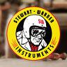 """Stewart Warner instruments sticker decal old school hot rod rat 3.25"""""""