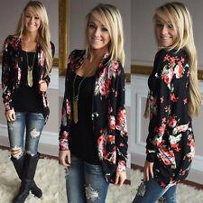 Fashion Women Long Sleeve Cardigans Coat Ladies Casual Outwear Loose Jacket Lot Black S