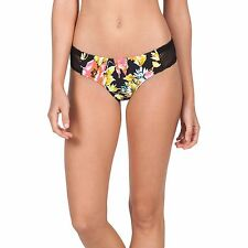 2016 NWT WOMENS VOLCOM WILD BUDS CHEEKY BIKINI BOTTOM $40 S black floral swim