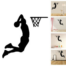 Home 10*10 cm Girl & Basketball Sport Wallpaper Decal Wall Black Stickers Decor