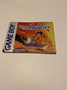 Manual Booklet Fashion D' Use Nintendo Game Boy GB Disney ALADDIN Fr Eur