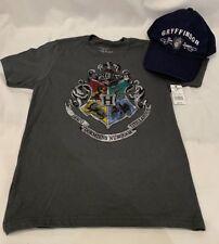 Universal Studios Harry Potter Hogwarts Crest Kids T-Shirt and Gryffindor Hat