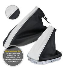 Schaltsack Schaltmanschette + Handbremssack für Opel Corsa D 06-12 weiß-schwarz