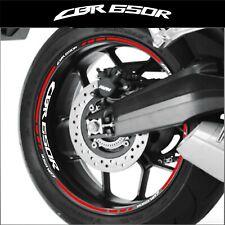 LISERETS JANTES MOTO CBR 650 R STICKERS kit pour 2 jantes 40 couleurs