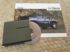 HUMMER H2H CD ROM PRESS KIT AND BROCHURE MODEL YEAR 2005 USA EDITION.
