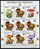 Paraguay 1985 Pilze Funghi Mushrooms Pflanzen Plants 3841 Kleinbogen MNH