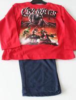 cce50e7946 Pyjama Set Schlafanzug Jungen Marvel Avengers rot blau Gr. 104 116 128 140  #43