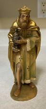 Anri 6� Wood Carving Nativity Figurine King Balthazar~Made In Italy Hand Painted