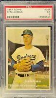 1957 Topps #366 - Ken Lehman - PSA 5 (EX) - Set Break - Brooklyn Dodgers