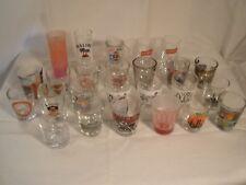 LOT of 25 Shot Glasses Shooters Souvenirs