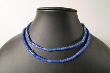 Alte kleine blaue Chevron Glasperlen 6 Lagen CP49 Old African Trade Beads blue