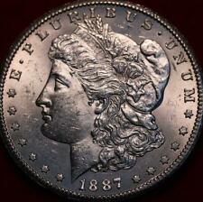 Uncirculated 1887-S San Francisco Mint Silver Morgan Dollar