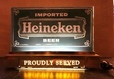 Vintage Heineken Light Up Beer Sign Cash Register Or Table Works Great