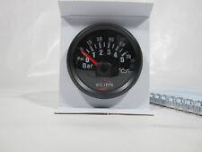 Reloj Presión de aceite bisel negro