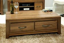 Mayan four drawer storage coffee table solid walnut home living room furniture
