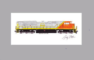 "Quebec, North Shore & Labrador SD70ACe 11""x17"" Matted Print Andy Fletcher signed"