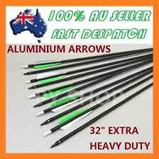 "10 x 32"" EXTRA HEAVY DUTY ALUMINIUM ARROWS FOR COMPOUND AND RECURVE BOW ARCHERY"