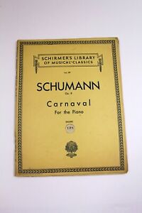 Vintage Piano Sheet Music Book Schirmer's 89 Schumann Op 9 Carnaval