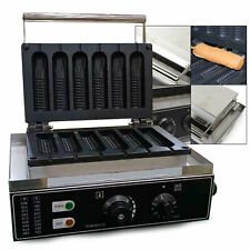 Commercial Electric Hot Dog Corn Waffle Maker 6pcs Nonstick stainless steel Usa