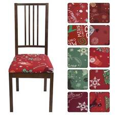 Dining Chair Cover Stretch Xmas Seat Covers Slipcover Party Wedding Home Decor #